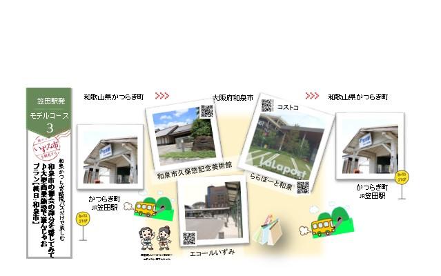 コースNo.3【笠田駅発】~和泉市の都会の部分を感じてみて♪大型商業施設で遊んじゃおプラン~