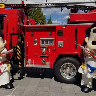 消防車両の展示もありました~!!カッコいいね~♪