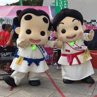 和泉市ブースで行ったガラポン抽選会にはたくさんのお友達が参加してくれたよ!