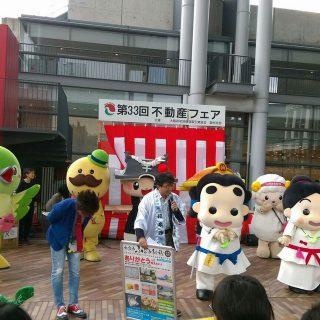 お客様の前で「和泉市ふるさと元気寄付」のPRをしたよ!