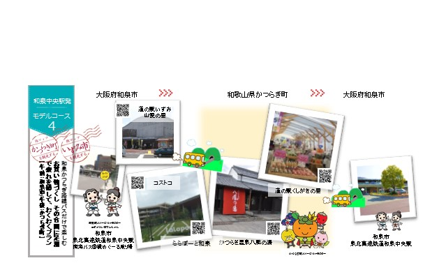 コースNo.4【和泉中央駅発】~お買い物づくし その合間に足湯で疲れを癒して~