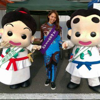 「いずみの国和泉市PR大使」に就任されたプロBMXレーサー飯端美樹さんと!これから一緒に和泉市のPRをよろしくお願いします!