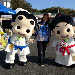 「いずみの国和泉市PR大使」でもあり、世界で活躍する「プロBMXレーサー」の飯端美樹選手と写真も撮りました~!