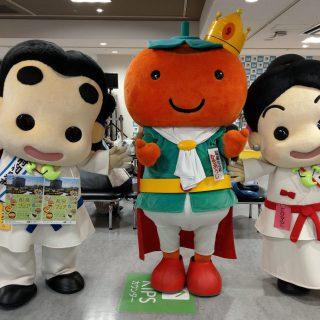 和泉市の友好都市和歌山県かつらぎ町からは、かきおうじも来てくれました~♪