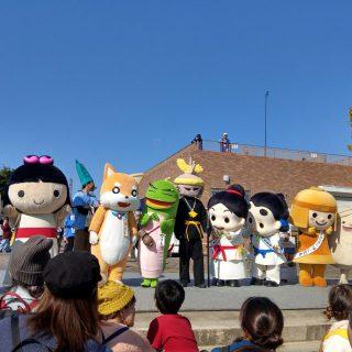 コダイのゆる~いキャラたちがステージで大集合!私たちも和泉市のPRをしました!!