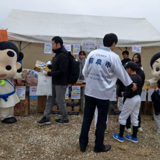 和泉市のブースではガラポン抽選会を行い、たくさんの方が参加してくれました♪
