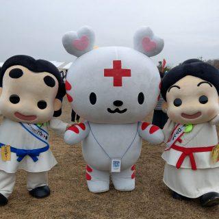 日本赤十字社のハートラちゃんも会場に来ていました~♪