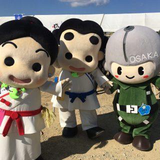 自衛隊大阪地方協力本部のまもるくんとも写真を撮りました!!