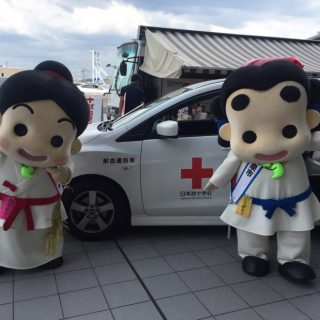 会場には献血コーナーもあって、たくさんの方に献血にごご協力いただいたよ!