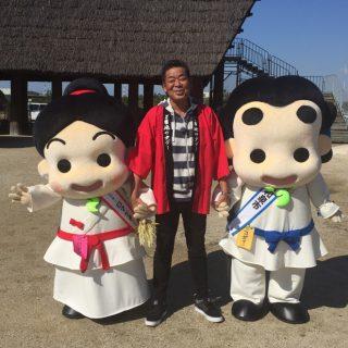 ご当地レポーターの山崎まさやさんと写真を撮りました~!