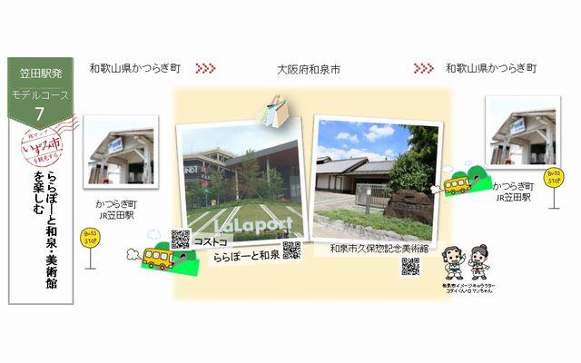 コースNo.7【笠田駅発】~ららぽーと和泉・美術館を楽しむ~