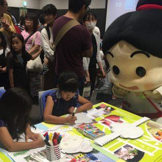 和泉市のブースでは私たちのぬり絵おめんコーナーもあったよ~♪みんなとっても上手に塗ってくれているね!!