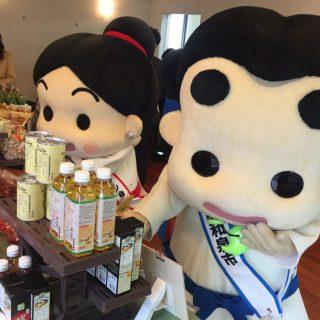 和泉市の友好都市和歌山県かつらぎ町のブースもあり、かつらぎ町の特産品が販売されました!